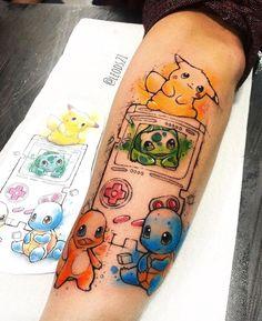 Enjoyment And Exciting Cartoon Tattoos In Your Case! Tattoo Geek, Nerdy Tattoos, Gaming Tattoo, Cartoon Tattoos, Real Tattoo, Anime Tattoos, Boy Tattoos, Disney Tattoos, Body Art Tattoos