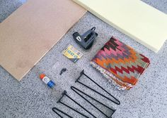 Make this quick and easy mid-century modern style bench using a cheery colored kilim rug! With less than $200 and a couple hours, you can make one too!