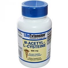 N-acetyl-L-cysteine (NAC) - 60 x 600mg Capsules  Life Extension NAC Supplement £13.95