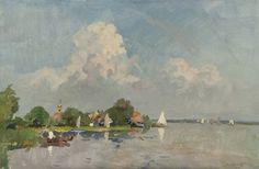 Cornelis Vreedenburgh - Zeilboten op de Loosdrechtse Plassen