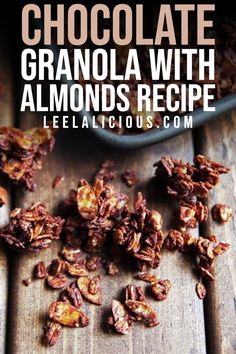 This delicious Almond Mocha Granola combines toasty oats with almond slices and shredded coconut. Espresso powder and melted chocolate create a wonderful mocha-flavored coating. #breakfast #almond #mocha #granola #shreddedcoconut #chocolate #recipe #easy Chocolate Granola, Melted Chocolate, Chocolate Coating, Chocolate Fudge, Chocolate Recipes, Homemade Truffles, Espresso Powder, Shredded Coconut, Almond Recipes