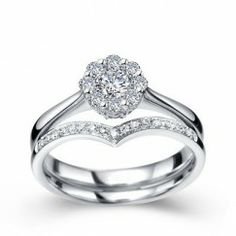 1/2 Carat Diamond Bridal Set Engagement Ring on 10k White Gold $599.99