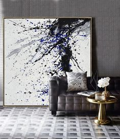 Minimalist Drip Painting Minimalist Drip Painting Mina Maria Inspiration Hand-painted Minimalist Drip painting on canvas black white grey We aim to nbsp hellip canvas black and white Toile Design, Tableau Design, Drip Painting, Texture Painting, Painting Canvas, Splatter Paint Canvas, Drip Art, Black And White Painting, Black And White Abstract