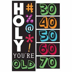 Holy Bleep Giant Party Banner - 60 by 20 inch
