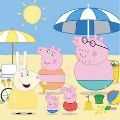 Rannallahan alkoi tulla jo kuuma, mutta sitten jäätelökärry osui juuri sopivasti paikalle. Peppa Pig Teddy, Pikachu, Family Guy, Book, Fictional Characters, Baby Dolls, Fantasy Characters, Book Illustrations, Books