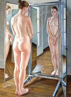 I love the vulnerability in this painting by Francine Van Hove.