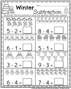 FREE K-1 SUBTRACTION WORKSHEETS (instant download) | Subtraction ...