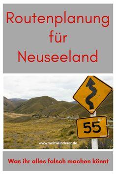 Bei der Routenplanung eurer Neuseeland-Reise könnt ihr so einige Fehler machen - Vorsicht!