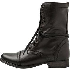 Steve Madden Troopa Combat Boot (4,305 INR) ❤ liked on Polyvore