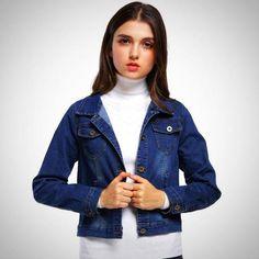0bf40f4df8b1 MCCKLE Women s Plus Size Denim  font  b Jacket  b   font  2017 Autumn Long  Sleeve Short  font  b Jeans  b   font   font  b Jacket  b   font  Cotton ...