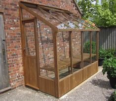 Swallow Finch 8x4 ThermoWood Lean To Greenhouse