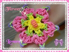 Rainbow Loom Bracelet Tutorial 彩虹手錬 ~ 花え恋人 Flower lovers