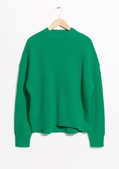 & Other Stories | Oversized Straight Sweater in Green