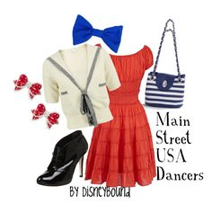 Main Street USA....would be cuter with some flats and the booties