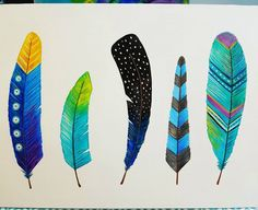 57 Inspirational Canvas Painting Ideas To Combat Art-block Feather Drawing, Feather Painting, Feather Art, Feather Tattoos, Art Tattoos, Diy Canvas Art, Acrylic Canvas, Canvas Artwork, Painting Lessons