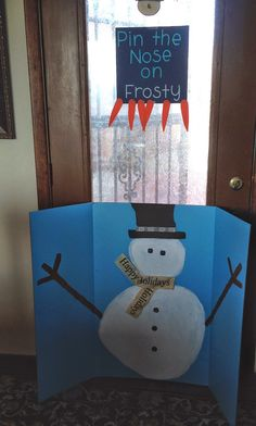 Frozen: Winter Wonderland First Birthday Party Pin the nose on frosty olaf