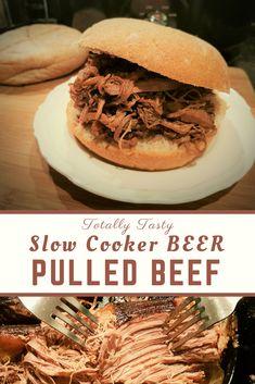 Easy Slow Cooker Pulled Beef Brisket Recipe With Guinness Beef Brisket Slow Cooker, Beef Brisket Recipes, Pulled Beef, Guinness, Slow Cooker Recipes, Brunch, Tasty, Snacks, Dinner
