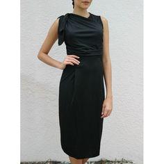 OL Style V-Neck Solid Color Women's Bodycon Midi Dress — 10.48 € Size: L Color: BLACK