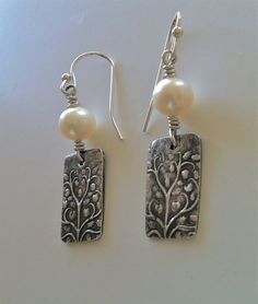 Fine Silver Precious Metal Clay Fresh Water by WyomingHammered, $40.00