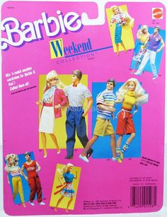 Barbie Doll Weekend Collection Outfit #1528 New NRFP 1988 Mattel, inc. 3+ | eBay