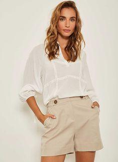 Buy Mint Velvet White/Ivory Lace Insert Top from the Next UK online shop Lace Insert, Boho Tops, Uk Online, Street Style Women, Short Dresses, Ivory, Velvet, Cotton, How To Wear