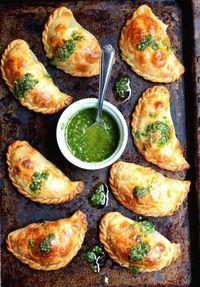 Combine tomato + mozzarella to make these Caprese Empanadas.