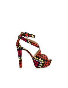 PRINTED SANDAL - Shoes - TRF - ZARA United States