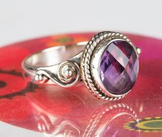 Amethyst Jewellery – Amethyst Ring, 925 Sterling Silver Jewelry – a unique product by Midas-Jewelry on DaWanda Amethyst Jewelry, Amethyst Gemstone, Silver Jewelry, Gemstone Rings, Jewellery, Gemstones, Sterling Silver, Unique, Etsy