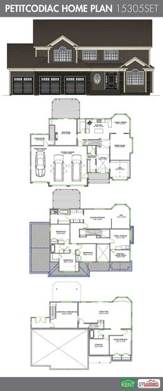 Petitcodiac 5 Bedroom 3 1 2 Bathroom Home Plan Features Large Kitchen With Dining Area Formal Room Den Sun The Second Floor Offers A