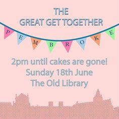 The Great Get Together inspired by Jo Cox (1992) is happening soon! Please join us on the 18th from 2pm in the Old Library. Everyone is welcome.