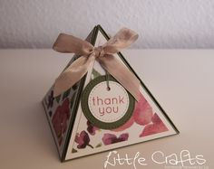 Little Crafts - Thank you Pyramid Box Good Morning Everyone, Explosion Box, Boxes, Product Launch, Gift Wrapping, Candles, Projects, Handmade, Crafts