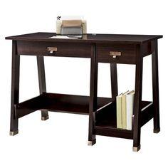 Sauder Trestle Office Desk - Espresso