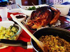Citrus-herb roasted turkey and port gravy