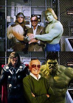 Stan Lee is the man! Hulk Marvel, Marvel Comics, Avengers, Comic Book Characters, Marvel Characters, Comic Books, 1970s Movies, Nerd Love, Stan Lee