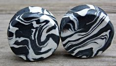 Black and White Ear Plugs, Custom Ear Gauges, Orca Collection, Polymer Clay-Any Size 8G (3.2 mm)-1 inch (25 mm), Larger Sizes Available, $14.00+ http://www.etsy.com/listing/190062215/black-and-white-ear-plugs-custom-ear?
