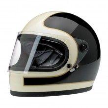 Biltwell Gringo S Ltd Edition Tracker Helmet - Vintage White / Black