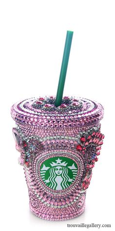 Custom Swarovski Starbucks Mugs. All inquiries info::at::marynabutenko::dot::com