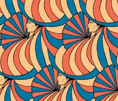 deco woman fabric by zandloopster on Spoonflower - custom fabric