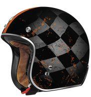 "Torc Lucky 13 ""Tank"" Helmet in Flat Black Cafe Racer Girl, Scrambler Motorcycle, Black Flats, Bicycle Helmet, Louis Vuitton Monogram, Dots, Car, Pattern, Café Racers"