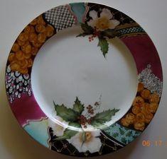 Hand painted  Christmas plate by TeaatTiffanies on Etsy