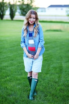 pregnancy look with denim
