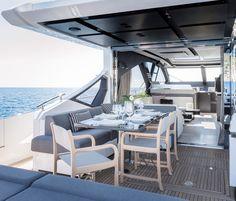 Azimut : Un futur best seller ! Azimut Yachts, Carbon Fiber, Boats, Furniture, Home Decor, Beautiful, Decoration Home, Ships, Room Decor