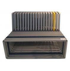 CROSS Design bench in steel varnished aluminium cm. 160x100x100h