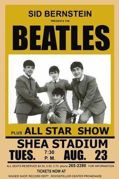 The Beatles - Shea Stadium - Mini Print