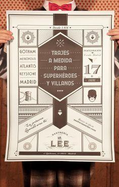 Mr. Lee by Chacho Puebla, via Behance
