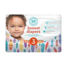 The Honest Company Honest Limited Edition Size 1 Diapers in Arctic Fox Pattern Fox Pattern, Feather Pattern, Snowflake Pattern, Horse Pattern, Honest Company Diapers, Honest Diapers, Size 3 Diapers, Diaper Sizes, Honest Baby Products