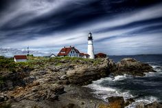 Coastal Maine in the summer is so beautiful! Portland Head Light, Cape Elizabeth Maine
