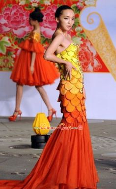 Chinese Lunar New Year Fish Dance Costumes for Women