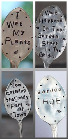 Stamped spoon garden markers. Vegetable garden markers ideas