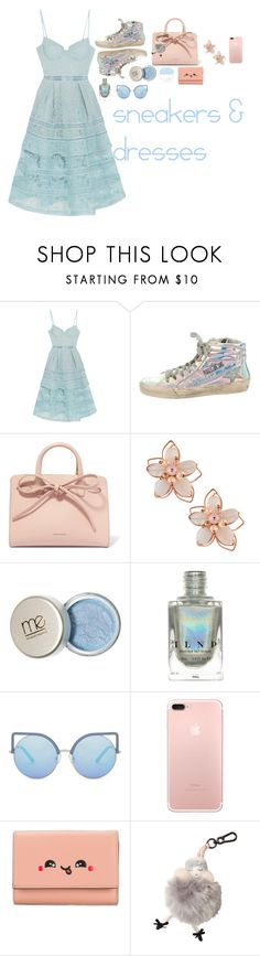 """Blue and Holo win them all-o"" by gbs186 on Polyvore featuring self-portrait, Golden Goose, Mansur Gavriel, NAKAMOL, Matthew Williamson, Anya Hindmarch and Morgan Lane"